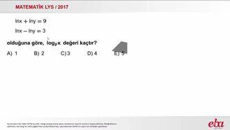 Logaritmik Denklem(2017 LYS-MATEMATİK) izle