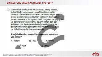 Yaşayan Dinler ve Benzer Özellikleri(2017LYS-DKAB) izle
