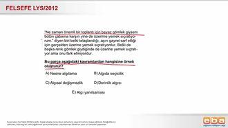 2012 LYS Algıda Seçicilik izle