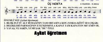 Sayfa 20 de Üç Nokta isimli şarkı Nota Okuma Dersi Solfej Blok Flüt Piyano Keman Gita... izle