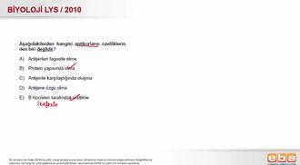 2010 LYS Biyoloji Bağışıklık Sistemi izle