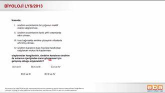 2013 LYS Biyoloji Sindirim Sistemi izle