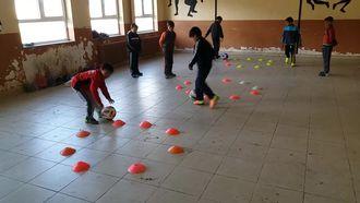 Çengilli Ortaokulu minikler futbol izle