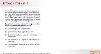 2010 YGS Biyoloji Enzimlerin Çalışma Hızını Etkileyen Faktörler izle