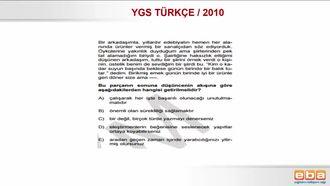 2010 YGS TÜRKÇE / PARAGRAFIN YAPISI izle