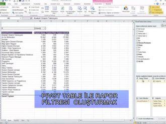 Listedeki Verilerle İlgili Ayrı Ayrı Rapor Nasıl Alınır? (Pivot Table İle Rapor Fil... izle