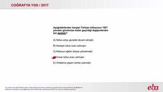 Türkiye'nin Nüfusu (2017 YGS-Coğrafya) izle