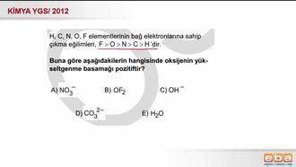 2012 YGS- Bağ Elektronlarına Sahip Çıkma Eğilimi (Elektronegatiflik) izle