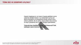 Dinî -Tasavvufi Türk Edebiyatı Nazım Türleri (2017 LYS- TÜRK DİLİ VE EDEBİYATI) izle