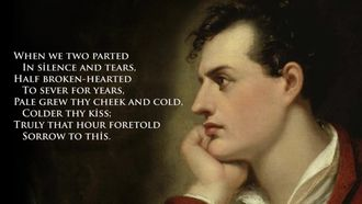 English in street etwinning project George Gordon Lord Byron When we two parted poem izle