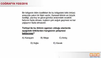 Türkiye' nin Yerşekilleri, İklimi,Toprak Su ve Bitki Varlığı izle