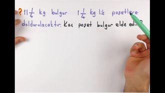 7. Sınıf Matematik Rasyonel Sayı Problemleri izle