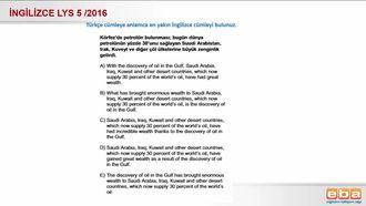 2016- LYS 5 Türkçe İngilizce Çeviri izle
