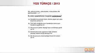 YGS/2013 CÜMLENİN ANLAMI VE YORUMU/METİN TAMAMLAMA izle