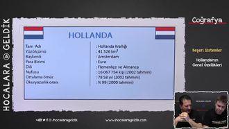 Hollanda'nın Genel Özellikleri izle