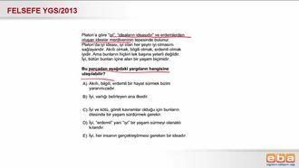2013 YGS Platon ve İdealar Anlayışı izle