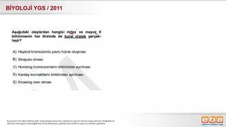 2011 YGS Biyoloji Hücre Bölünmeleri izle