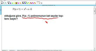 Polinomun Tanımı Ve Temel Kavramları - Kurs - 13 izle