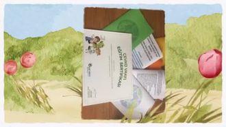 Yeşil giyen çocuklar broşür dağıtıyo izle