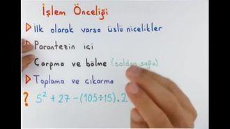 6. Sınıf Matematik İşlem Önceliği izle