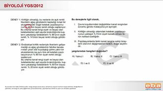 2012 YGS Biyoloji Doğal Seleksiyon izle
