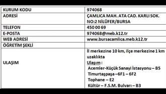 Nilüfer Çamlıca Anadolu Lisesi izle