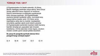 Parçayı Paragraflandırma (2017 YGS-Türkçe) izle