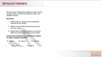 2012 YGS Biyoloji Mutasyon izle