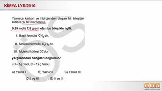 2010 LYS- Basit Formül ve Molekül Formülü izle