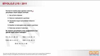 2011 LYS Biyoloji Solunum Sistemi Kontrolü izle