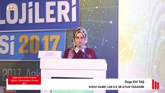 FATİH ETZ 2017 : Özge Elif TAŞ - KODU GAME LAB İLE 3B OYUN TASARIMI izle