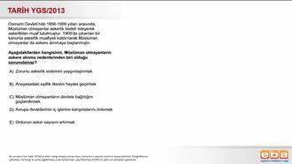 2013-Ygs-Tarih-Osmanlı Devletinde Zorunlu Askerlik izle