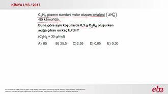 Standart Molar Oluşum Entalpisi ( 2017 LYS- KİMYA) izle