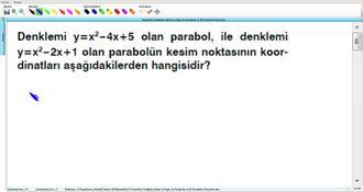 Parabolün Grafiğinin Çizimi ve Doğru ile Parabolün ve İki Parabolün Durumları 20 izle