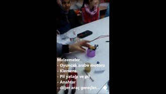 Teknoloji ve tasarım dersi titrek oyuncak projesi, üreten çocuklar izle
