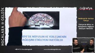 Türkiye'de Nüfus ve Yerleşmenin Dağılışını Etkileyen Faktörler izle