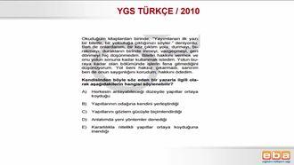 2010 YGS TÜRKÇE / PARAGRAFIN ANLAMI VE YORUMU izle