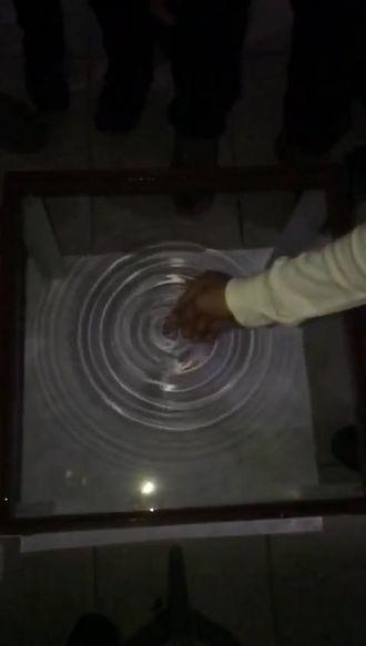 Dalga leğeninde dairesel su dalgaları- Yavaşlatılmış çekim- izle