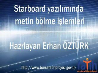 Starboard Yazılımında Metin Bölme İşlemi izle