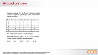 2010 LYS Biyoloji Organik Bileşikler izle