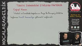 Türkiye'de Ekonomiyi Etkileyen Faktörler izle