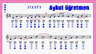 37.Etüt Nota Okuma Dersi Solfej Blok Flüt Piyano Keman Gitar Müziği Sevdirme Yolları izle