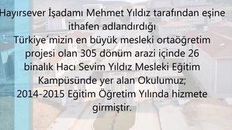 Hacı Sevim Yıldız 3 Mesleki Ve Teknik Anadolu Lisesi izle