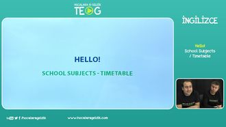 School Subjects / Timetable izle
