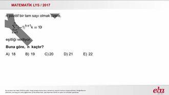 Toplam Sembolü(2017 LYS-MATEMATİK) izle