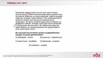 Türk Halk Edebiyatı (LYS 2017- TÜRK DİLİ VE EDEBİYATI) izle