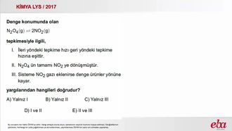 Kimyasal Denge ( 2017 LYS- KİMYA) izle