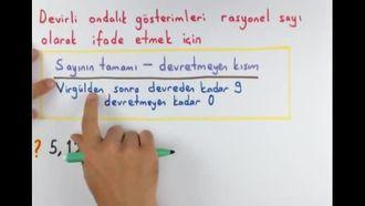 7. Sınıf Matematik Devirli Ondalık Gösterimleri Rasyonel Sayı Olarak Yazma izle