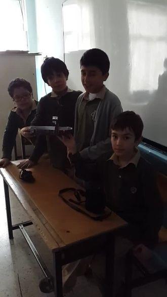 Nazmiye Demirel Ortaokulu öğrencileri 'Isı İle Çalışan Gemi' projesi izle
