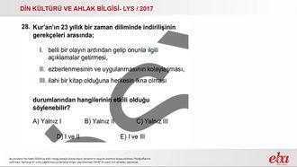 Kuran'ın Nüzül Sebepleri(2017 LYS-DKAB) izle